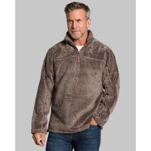True Grit Luxe Fleece 1/4 Zip Pullover Sweater